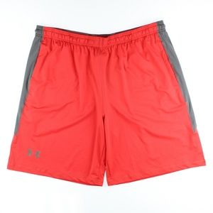 Under Armour Mens  Raid Sports Shorts Red Grey NWD